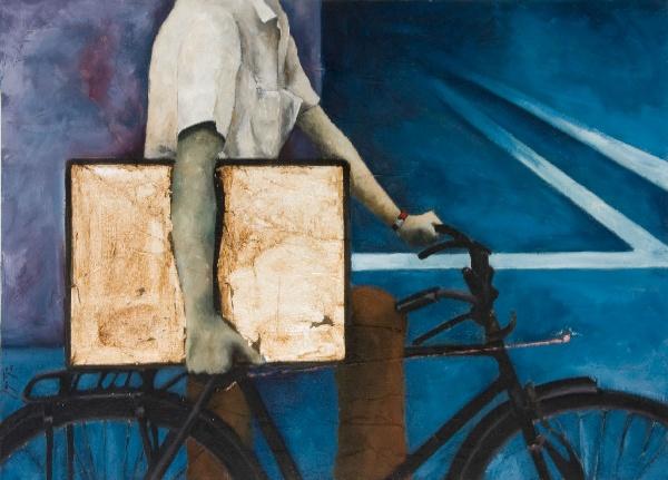 Serie_ Bicis   Óleo sobre lienzo  Medidas: 1,20 x 0,90 cm