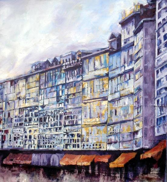 Serie_ Galerías  Óleo sobre lienzo Medidas: 0,90 x 0,75 cm
