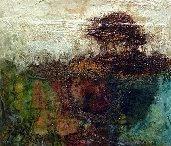 Serie_ Abstracción Paisaje   Técnica Mixta sobre tabla Medidas: 0,40 x 0,30 cm