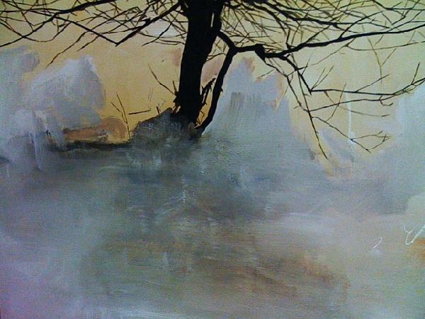 Serie_ Abstracción Paisaje  Óleo sobre lienzo  Medidas: 1,50 x  1,00 cm