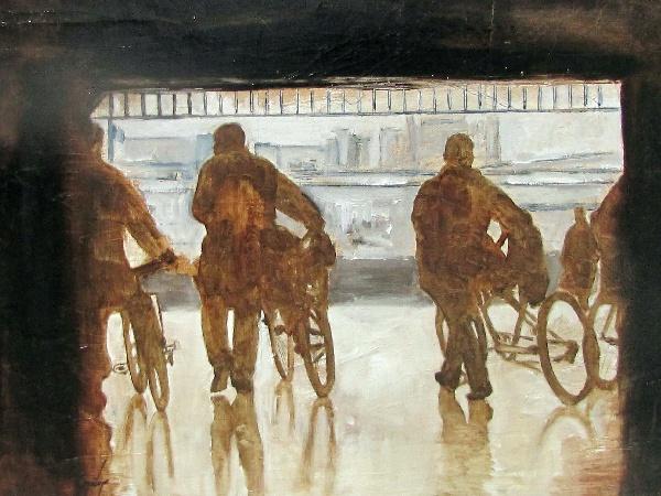 Serie_ Bicis  Óleo sobre lienzo Medidas: 0,80 x 0,65 cm
