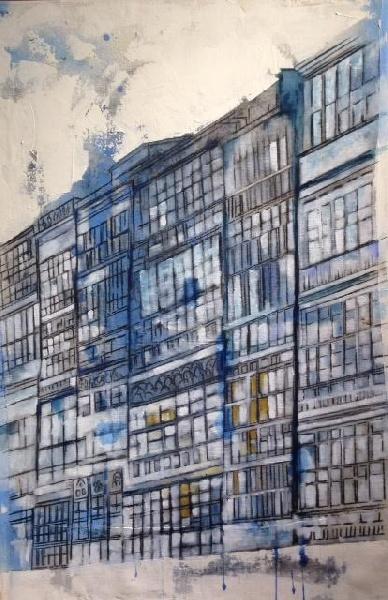 2017_ Galerías  Óleo sobre lienzo  Medidas: 0,60 x 0,75 cm