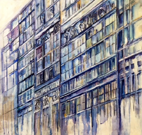 2016_  Galerías  Óleo sobre lienzo  Medidas: 0,70 x 0,65 cm