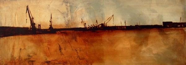 Serie_ Abstracción Paisaje  Óleo sobre lienzo  Medidas: 0,90 x 0,35 cm