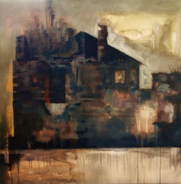 Serie_ Abstracción Paisaje  Óleo sobre lienzo  Medidas: 1,00 x  1,00 cm