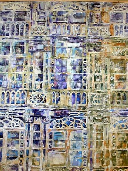Serie_ Galerías  Técnica Mixta  sobre lienzo Medidas: 1,00  x 1,20 cm