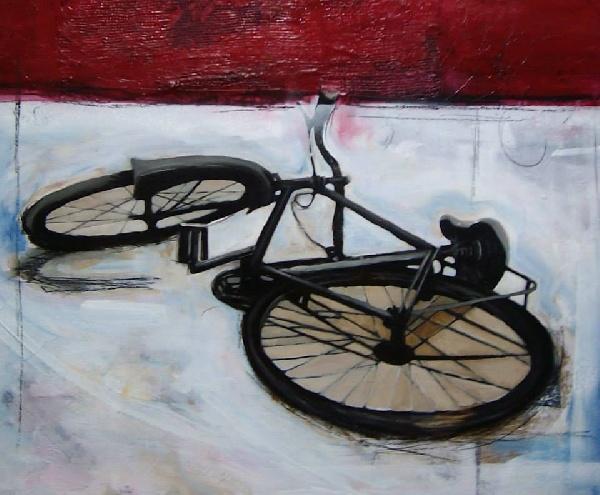 Serie_ Bicis  Técnica Mixta sobre lienzo Medidas: 0,90 x 0,70 cm