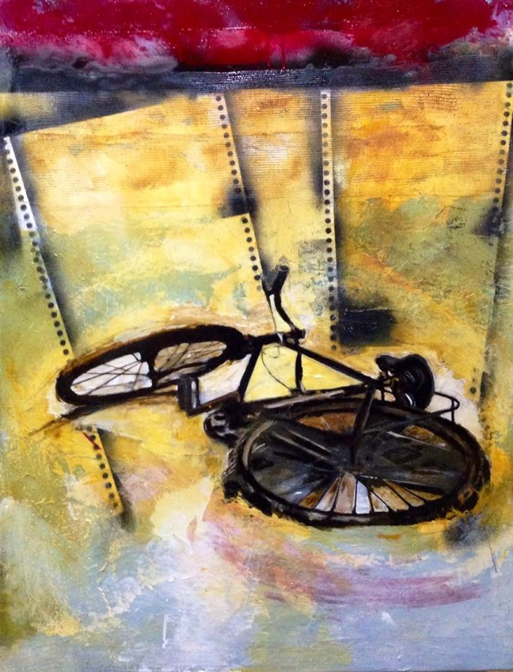 Serie_Bicis   Técnica Mixta sobre lienzo Medidas: 0,90 x 1,00 cm