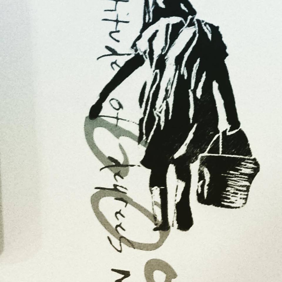Silueta niña 02.18.01  Xilografia sobra papel Medidas: 0,35 x 0,45