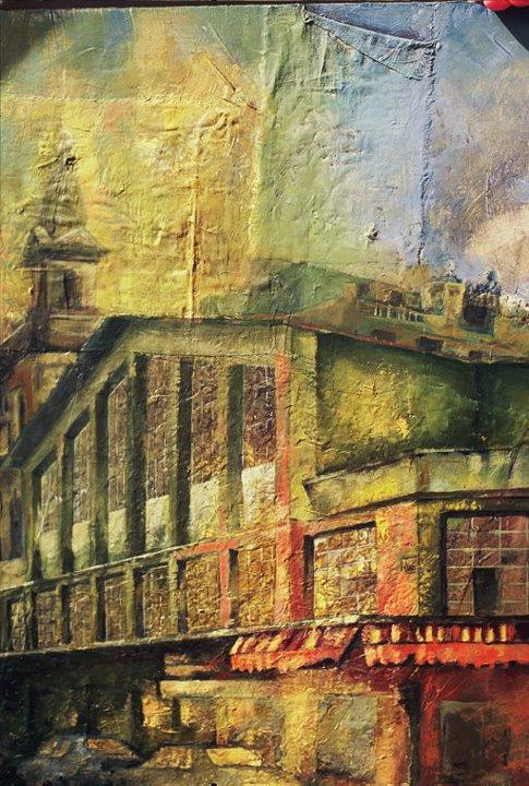 2015_ Plaza de Lugo  Técnica Mixta sobre lienzo Medidas:  0,70 x 0,80 cm