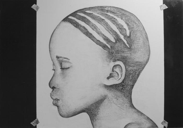 2014_ Africa  Técnica Mixta  sobre lienzo Medidas: 0,90 x 0,75 cm