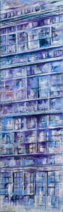 2016_ Galerías  Óleo sobre lienzo Medidas: 0,35 x 1,10 cm