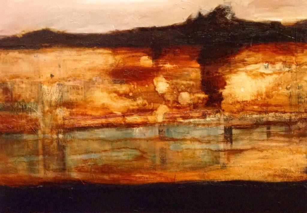Serie_ Abstracción Paisaje  Óleo sobre lienzo  Medidas: 0,80 x 0,60 cm