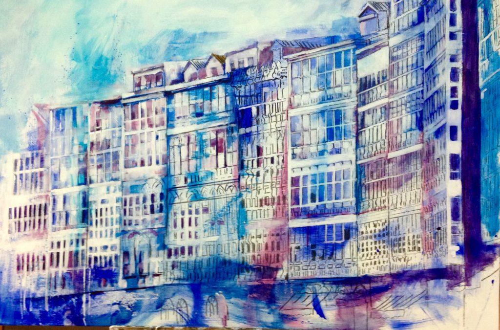 Serie_Galerías   Óleo sobre lienzo  Medidas: 1,50 x 0,90 cm