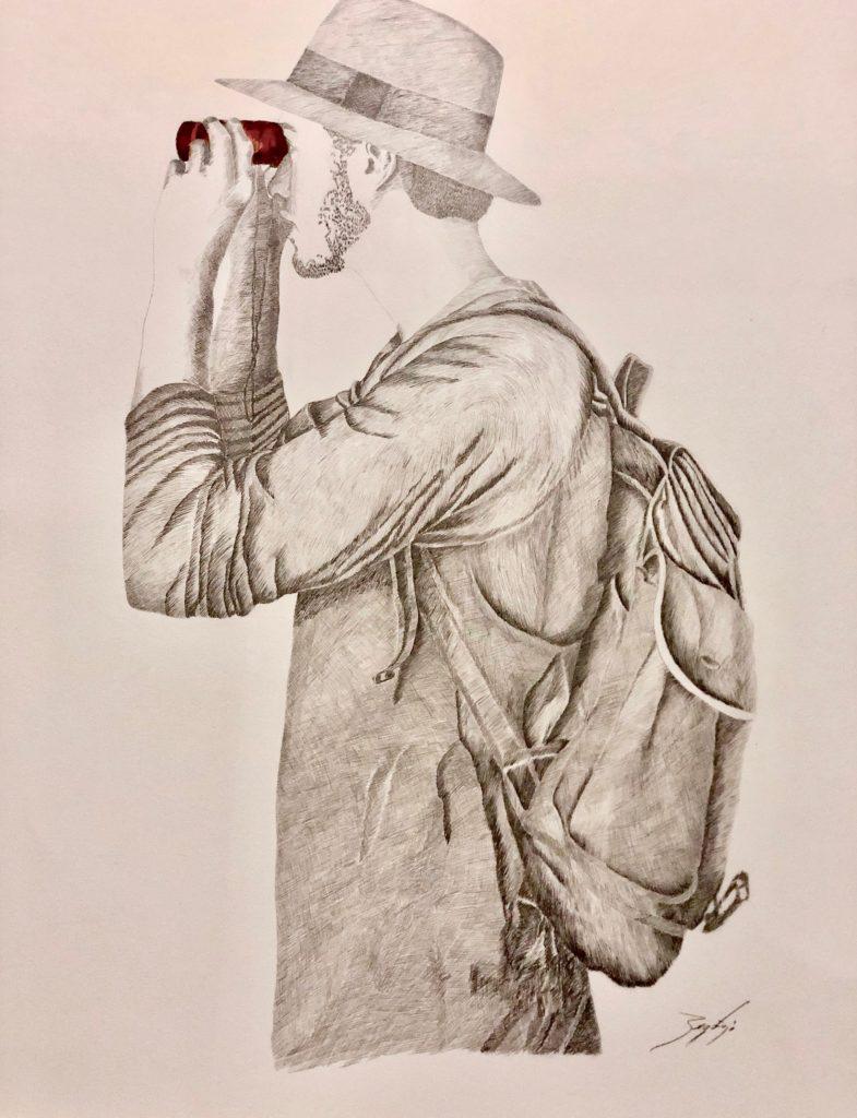 2019_Miradas Lápiz y tinta sobre papel caballo 70x85